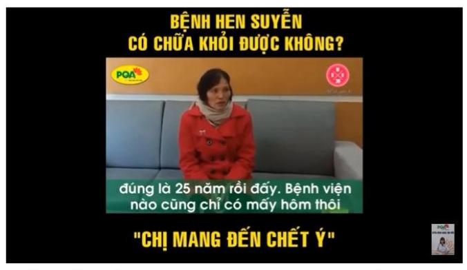 Chia sẻ của Cô Nguyễn Thị Buốt 58 tuổi bị Hen – ở thôn Thanh Bình, xã Lộc Đức, huyện Bảo Lộc, Lâm Đồng